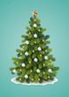 Detailed Christmas Tree - 73655114