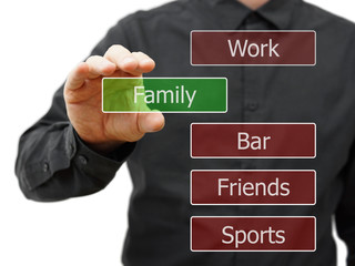 choosing family life ..instead work,party