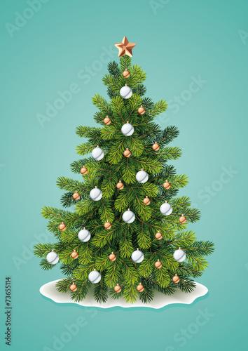 Detailed Christmas Tree - 73655114