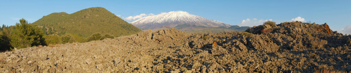 Old Cooled Lava In The South-West Etna National Park, Sicily