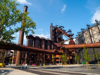 Blast furnace in metallurgical area