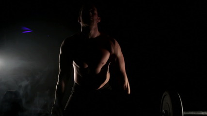 Man lifting weights, crossfit