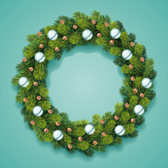 Detailed Christmas Wreath