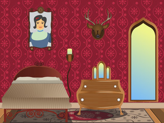 cartoon interior - bedroom