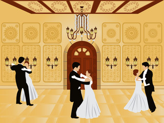 cartoon interior - ballroom