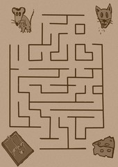Mouse maze vintage
