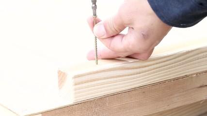 木材のビスどめ