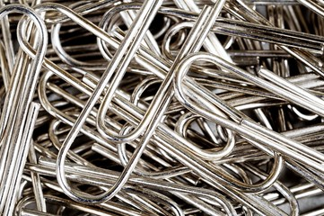 Silver paperclips © Arena Photo UK