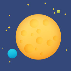 Planet in space, vector illustration