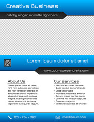 Business multipurpose flyer template - blue and grey