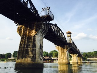 the bridge of river Kwai,Thailand