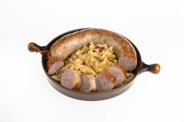 Bratwurst mit Spitzkohl
