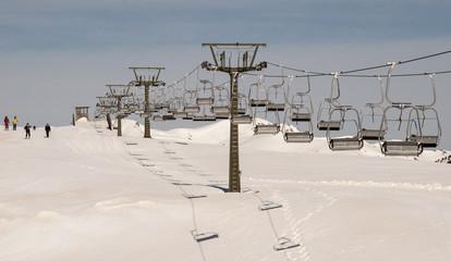 Ski lift. Baqueira Ski Resort. Bonaigua sector