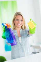 hübsche reinigungskraft