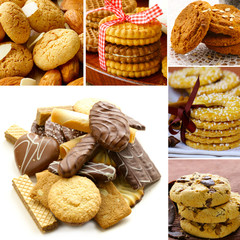 collage of different kinds of cookies