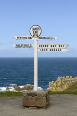 Land End sign post, Cornwall