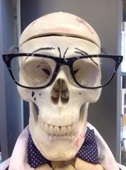 скелет, череп, очки, улыбка