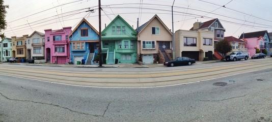 Panorama von San Francisco mit Häusern