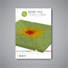 Modern Vector abstract brochure report design template