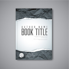 Modern Vector abstract book cover template