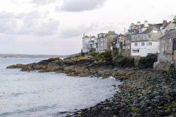 sea side houses at st. Ives, Cornwall