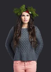 Cristmas fashion woman