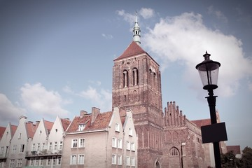 Old Gdansk. Cross processed color tone.