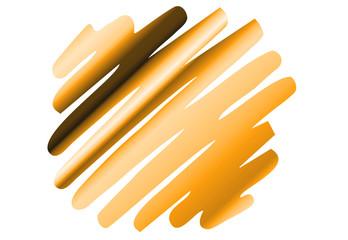 Zigzag-Streifen Punkt - orange/hellbraun