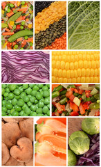 Collection of vegetables closeup