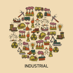 Industrial sketch set