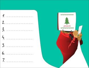 "vector illustration ""gift list"