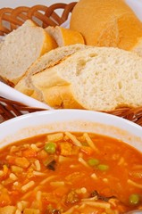 Vegetarian minestrone soup © Arena Photo UK