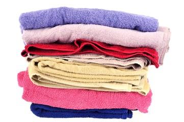 Pile de serviettes de bain