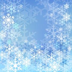 雪  結晶 背景 Blue snow background