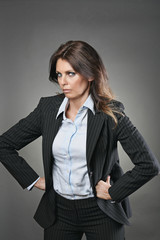 Beautiful manager woman with angry expression