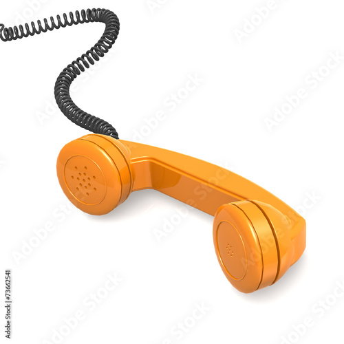 canvas print picture Orange telephone receiver