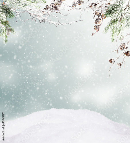 Leinwanddruck Bild Winter landscape