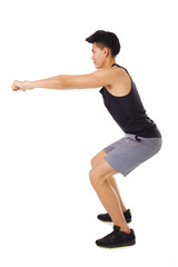 young asian Handsome Man Doing  Exercise