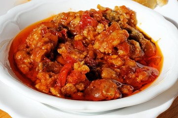 Cod in pepper and tomato sauce tapas © Arena Photo UK