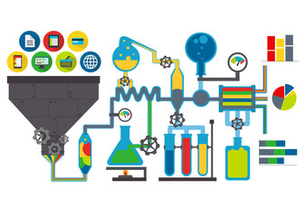 Data lab vector illustration