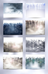 Set of 8 Christmas Backgrounds