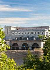 Estonia. Narva. Hydroelectric power station on the river Narva..