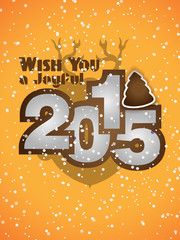 2015 New Year and Happy Christmas background
