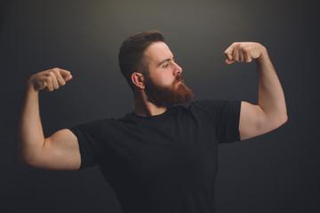 Portrait of a Bearded Muscular man