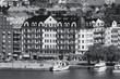 Stockholm city. Black and white photo.