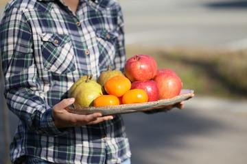 秋の果物盛り合わせ