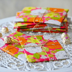 Beautifully styled and wrapped presents