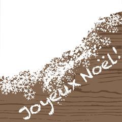 Joyeux Noel - fond - bois