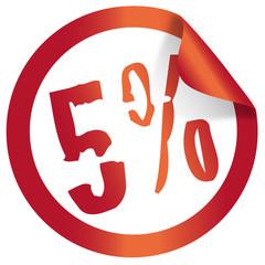 5 percent christmas icon