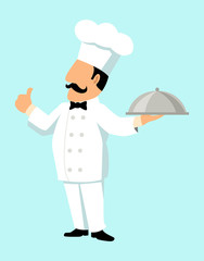 Simple cartoon of a chef